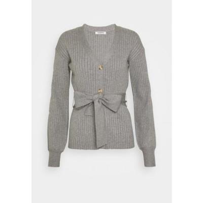 グラマラス レディース ファッション SLOUCHY CARDIGAN WITH BELT - Cardigan - grey
