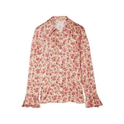 MICHAEL KORS COLLECTION マイケルコース シルクシャツ&ブラウス  レディースファッション  トップス  シャツ、ブラウス  長袖 ベージュ