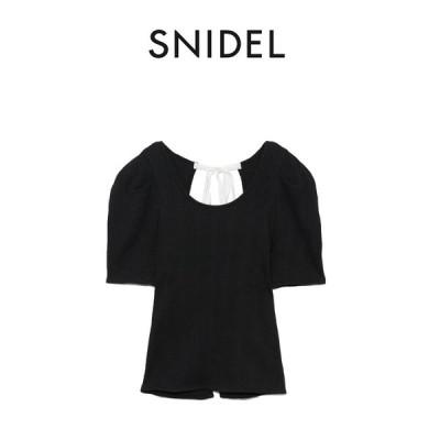 SNIDEL スナイデル 通販 Sustainaブラセットバックデザインプルオーバー swct212058 レディース 2021夏 トップス カットソー
