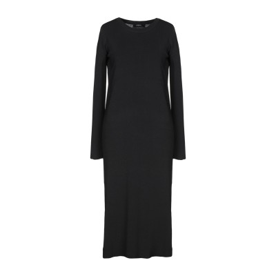 アルファスタジオ ALPHA STUDIO 7分丈ワンピース・ドレス ブラック 44 レーヨン 65% / ナイロン 35% 7分丈ワンピース・ドレス