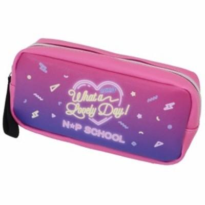 筆箱 BOX ペンケース ニコプチスクール Cビビッド×ネオンサイン柄 n☆p school 女子向けステショ グッズ