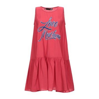 ラブ モスキーノ LOVE MOSCHINO ミニワンピース&ドレス レッド 38 レーヨン 85% / ナイロン 15% ミニワンピース&ドレス