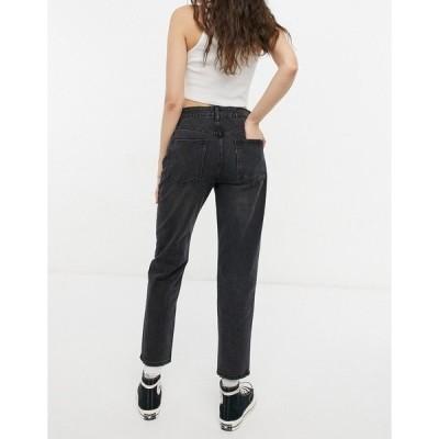 コットン オン レディース デニムパンツ ボトムス Cotton:On mom jeans in washed black Washed black