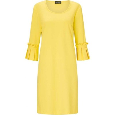ジュームズ レイクランド James Lakeland レディース ワンピース ワンピース・ドレス PLEATED CUFF DRESS Yellow
