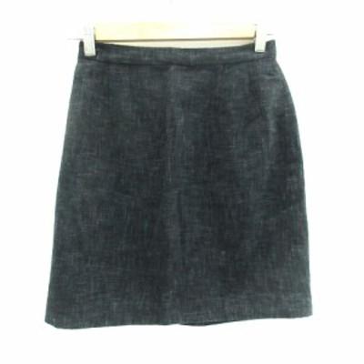 【中古】シーケーカルバンクライン ck Calvin Klein スカート 台形 ミニ丈 無地 ウール 9 グレー /SM6 レディース