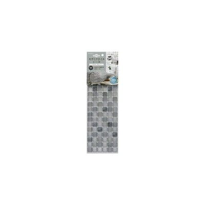 ds-2336443 モザイク タイルシール/インテリア用品 【クリアグレー 1枚入】 約37.6×13.4cm 接着剤不要 簡単カット 〔キッチン トイレ〕 (ds2336443)