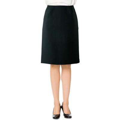 スーツ用タイトスカート(事務服・洗濯機OK)/ブラックA(総丈54cm)/67-93