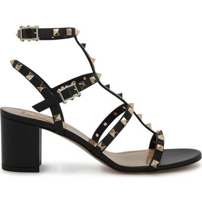 ヴァレンティノ Valentino レディース サンダル・ミュール シューズ・靴 Garavani Rockstud 60 Black Leather Sandals Black