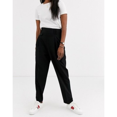 エイソス レディース カジュアルパンツ ボトムス ASOS DESIGN tailored smart high waist balloon pants