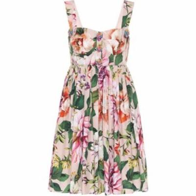 ドルチェandガッバーナ Dolce and Gabbana レディース ワンピース ワンピース・ドレス Floral cotton minidress Fiori Rosa Fdo Rosa