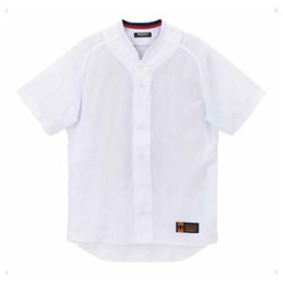 デサント 野球・ソフトボール用ユニフォームシャツ(SWHT・サイズ:M) DESCENTE 立襟フルオープンシャツ プロモデル(ルーズシルエット) DS-DB55M-SWHT-M 【返品種別A】