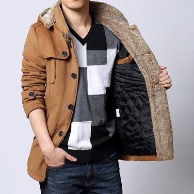 ウールジャケット 大きいサイズ 中綿ジャケット ショートコート ウール 防寒 暖 アウター あったか ビジネスコート ミドル丈 通勤 秋冬 M-6XLK005