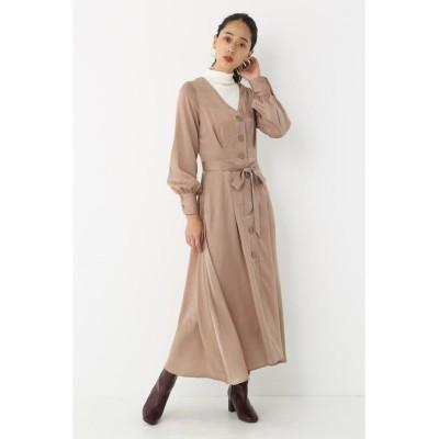 【シェルターセレクト】 ベルテッドシャツワンピース(Belted Shirt Dress)/ドレス レディース L/PNK1 FREE SHEL'TTER SELECT