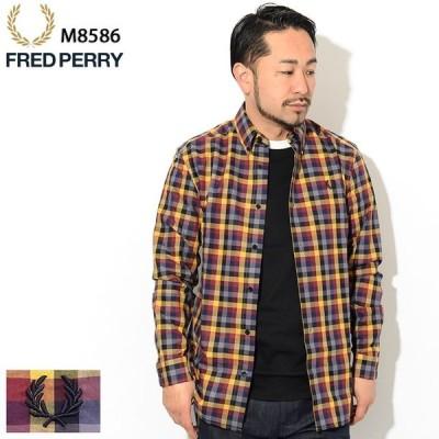 フレッドペリー シャツ 長袖 FRED PERRY メンズ 5 カラー ギンガム ( M8586 5 Colour Gingham L/S Shirt ボタンダウン ギンガムチェック )