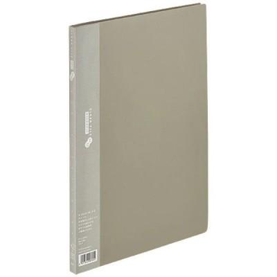 プラス クリアファイルA4S 40P グレー FC-124SI 3冊(直送品)
