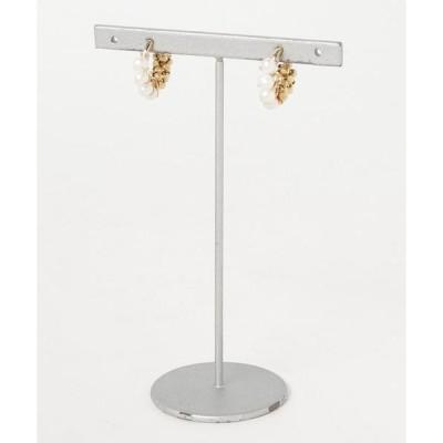 イヤリング 【marinaJEWELRY】14kgf/pti*Freshwater Pearl gold bi-color wrapped earri