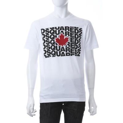ディースクエアード Tシャツ 半袖 丸首 クルーネック メンズ S74GD0827S22427 ホワイト 2021年春夏新作 DSQUARED2