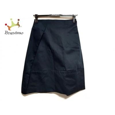 ジルサンダー JILSANDER スカート サイズ34 XS レディース 美品 - ダークネイビー ひざ丈 新着 20210114