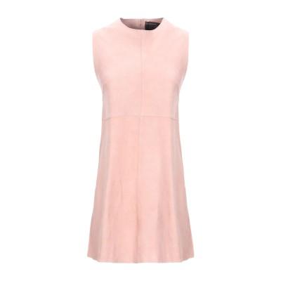 MUUBAA ミニワンピース&ドレス ピンク 10 山羊革 100% ミニワンピース&ドレス