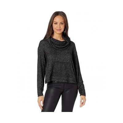 BB Dakota ビービーダコタ レディース 女性用 ファッション パーカー スウェット Over Over Cowl Neck Brushed Knit Top - Black