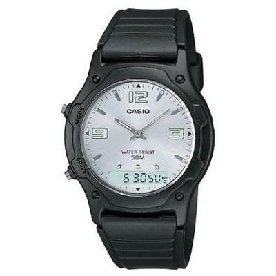腕時計 カシオ Casio アナログ/デジタル Combo 腕時計 レジン ストラップ アラーム クロノグラフ AW49HE-7AV