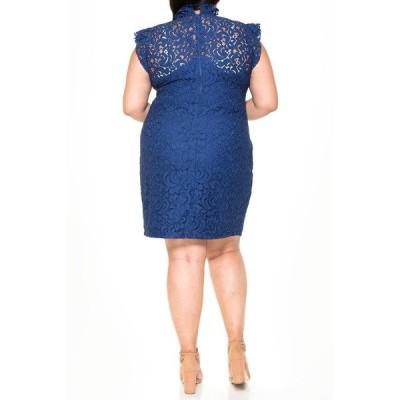 アレクシアアドマー レディース ワンピース トップス Carrie Black Lace Sheath Dress NAVY