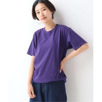 レディース ジャーナルスタンダード レリューム 【LA APPAREL / ロサンゼルスアパレル】 6.5oz Garment Dye C/N T:Tシャツ◆ パープル XL
