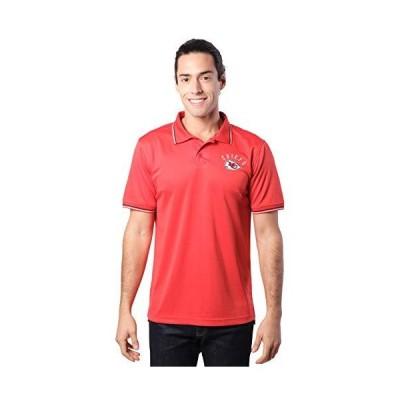 Ultra Game NFLメンズ吸湿発散テックポロシャツ M レッド