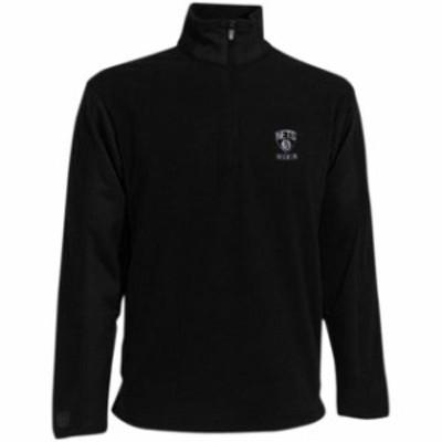 Antigua アンティグア スポーツ用品  Antigua Brooklyn Nets Youth Frost Microfleece Quarter Zip Jacket - Black