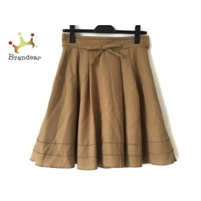 アプワイザーリッシェ Apuweiser-riche スカート サイズ2 M レディース ライトブラウン リボン     スペシャル特価 20200511