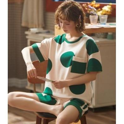 【2点送料無料】レディースファション  可愛い パジャマ  レディース  上下セット 部屋着 春 夏 半袖 誕生日 お祝い プレゼント 夏用 半