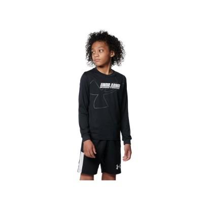 アンダーアーマー(UNDER ARMOUR) バスケットボールウェア ジュニア テック ロングスリーブ Tシャツ 1368975 001 (キッズ)