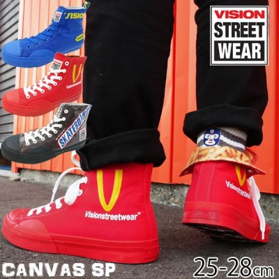 ヴィジョン ストリートウェア VISION STREET WEAR スニーカー メンズ ハイカット キャンバス HI SP ブルー レッド ブラウン VSW-0152