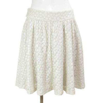 バナナリパブリック BANANAREPUBLIC 白花刺繍スカート 2