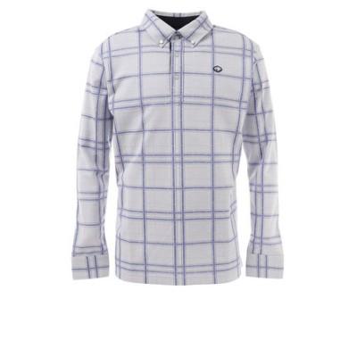 フィドラ(FIDRA)ゴルフ ポロシャツ メンズ チェックシャツ FI38TG24 WH/NVY