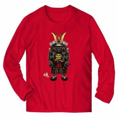 【ボクサー ドッグ 犬 いぬ 侍 将軍 日本 JAPAN】メンズ 長袖 Tシャツ by Fox Republic