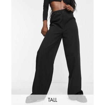 ミスガイデッド レディース カジュアルパンツ ボトムス Missguided Tall tailored wide leg sweatpants set in black