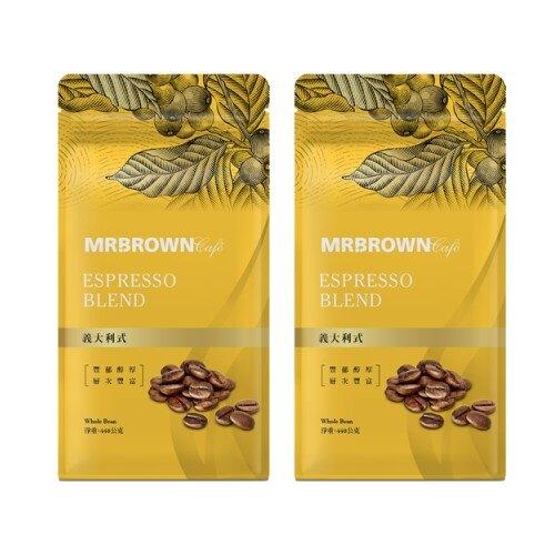 【伯朗咖啡買一送一】義大利式烘焙咖啡豆(440g)買一組即買一送一