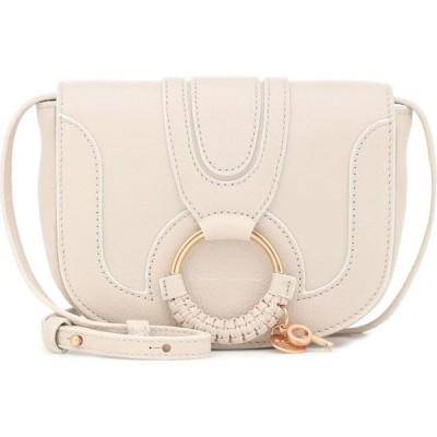 クロエ See By Chloe レディース ショルダーバッグ バッグ Hana Mini leather shoulder bag Cement Beige