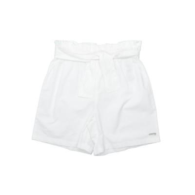 ゲス GUESS バミューダパンツ ホワイト 14 コットン 100% バミューダパンツ