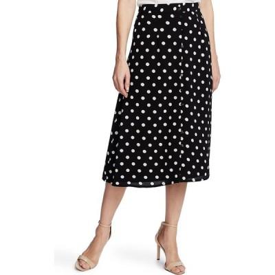 シーシー CeCe レディース ひざ丈スカート スカート Disco Dot-Print Midi Skirt Rich Black