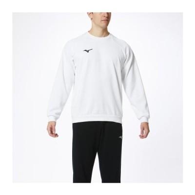 ミズノ ミズノ スウェットシャツ(クルーネック)[ユニセックス] 01&nbspホワイト(32mc017501)  スポーツ用品 取り寄せ