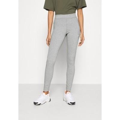 ナイキ レディース レギンス ボトムス Leggings - Trousers - grey heather/white grey heather/white