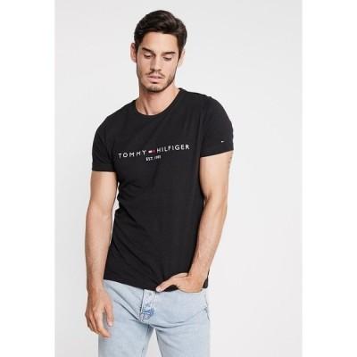 トミー ヒルフィガー Tシャツ メンズ トップス LOGO TEE - Print T-shirt - black