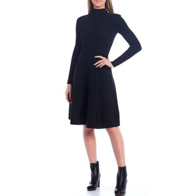 テッドベーカー レディース ワンピース トップス Josey Knit Long Sleeve Fit & Flare Dress Black
