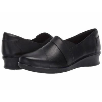 クラークス レディース スリッポン・ローファー シューズ Hope Piper Black Leather