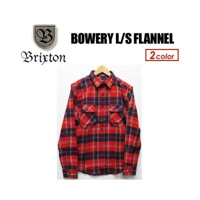 BRIXTON ブリクストン フランネル ネルシャツ シャツ 18fa/BOWERY L/S FLANNEL