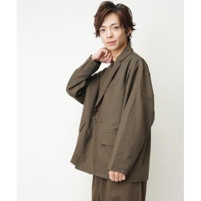 おしゃれスタ / TRビッグシルエットダブルブレストテーラードジャケット(IR) MEN ジャケット/アウター > テーラードジャケット