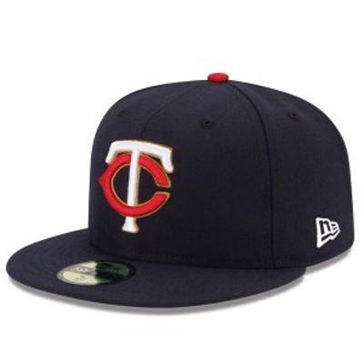 ニューエラ メンズ 帽子 アクセサリー Minnesota Twins New Era Alternate Authentic Collection On-Field 59FIFTY Fitted Hat Navy