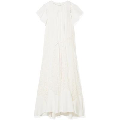 クロエ CHLOÉ 7分丈ワンピース・ドレス アイボリー 38 シルク 100% / コットン / ナイロン 7分丈ワンピース・ドレス